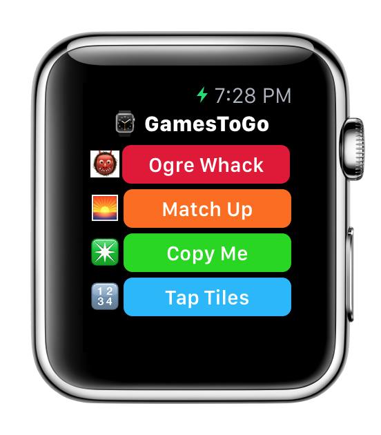GamesToGo for Apple Watch