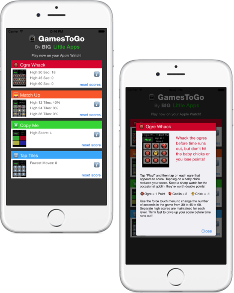 GamesToGo iPhone Companion App